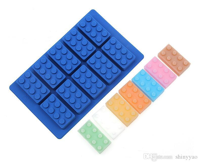 Kitchen Wares Silicone Ice Tools Building Blocks Ice Molds Ice Cube Tray