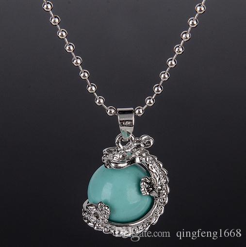 Europa und die Vereinigten Staaten kristall perlen anhänger halskette Natürliche achat original stein kugelförmige halskette