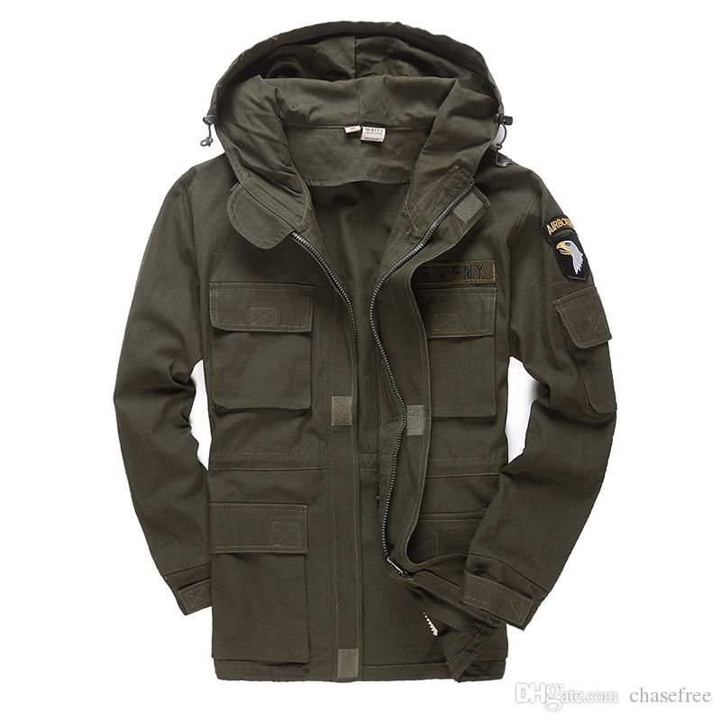 Men Military Style Tactical Jackets For Men Pilot Coat US Army 101 Air Force Bomber Jacket Coat