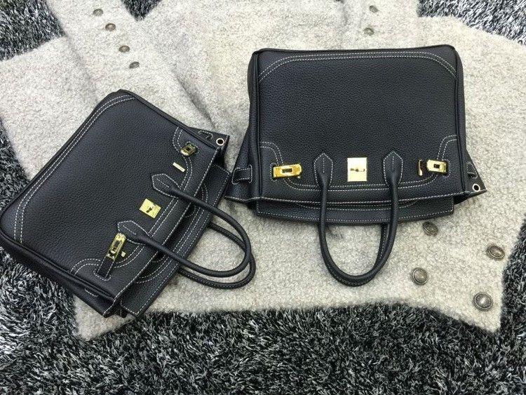 2016 Luxury H Handbag Women\`s Litchi Cowhide Messenger Bag Genuine Leather Famous Designer Shoulder Crossbody Totes Ladies Bolsa (5)
