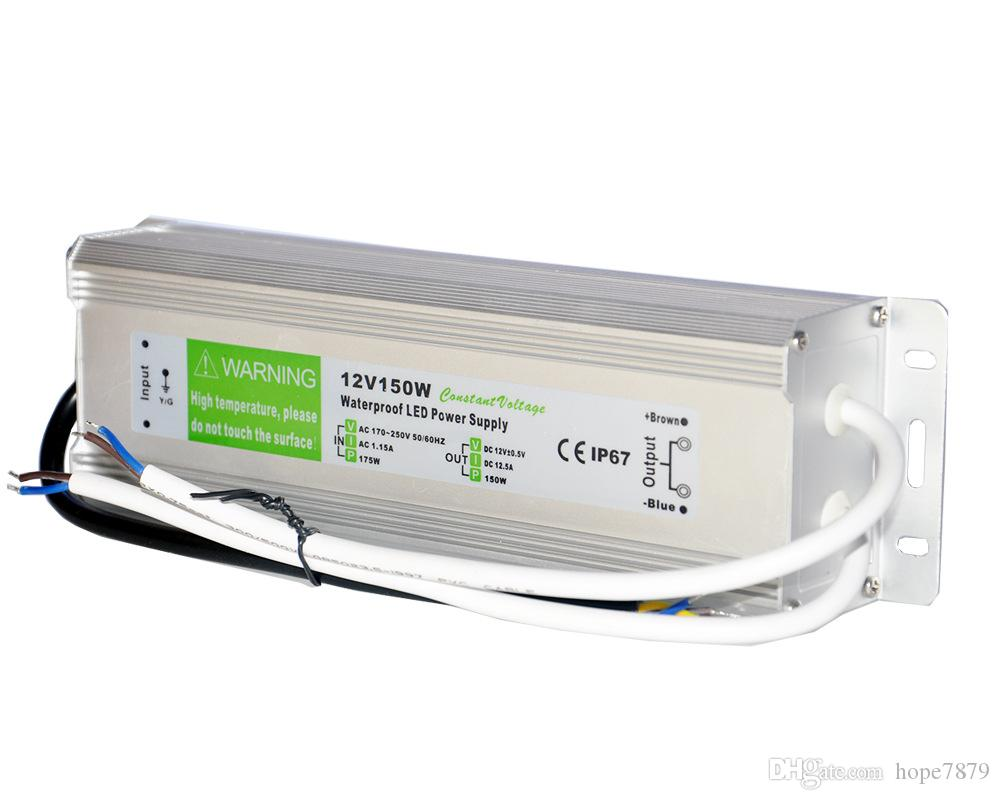 Output DC 12V 24V 36V 150W Transformers waterproof LED power supply led driver for outdoor Lighting input AC 110V 220V adapter