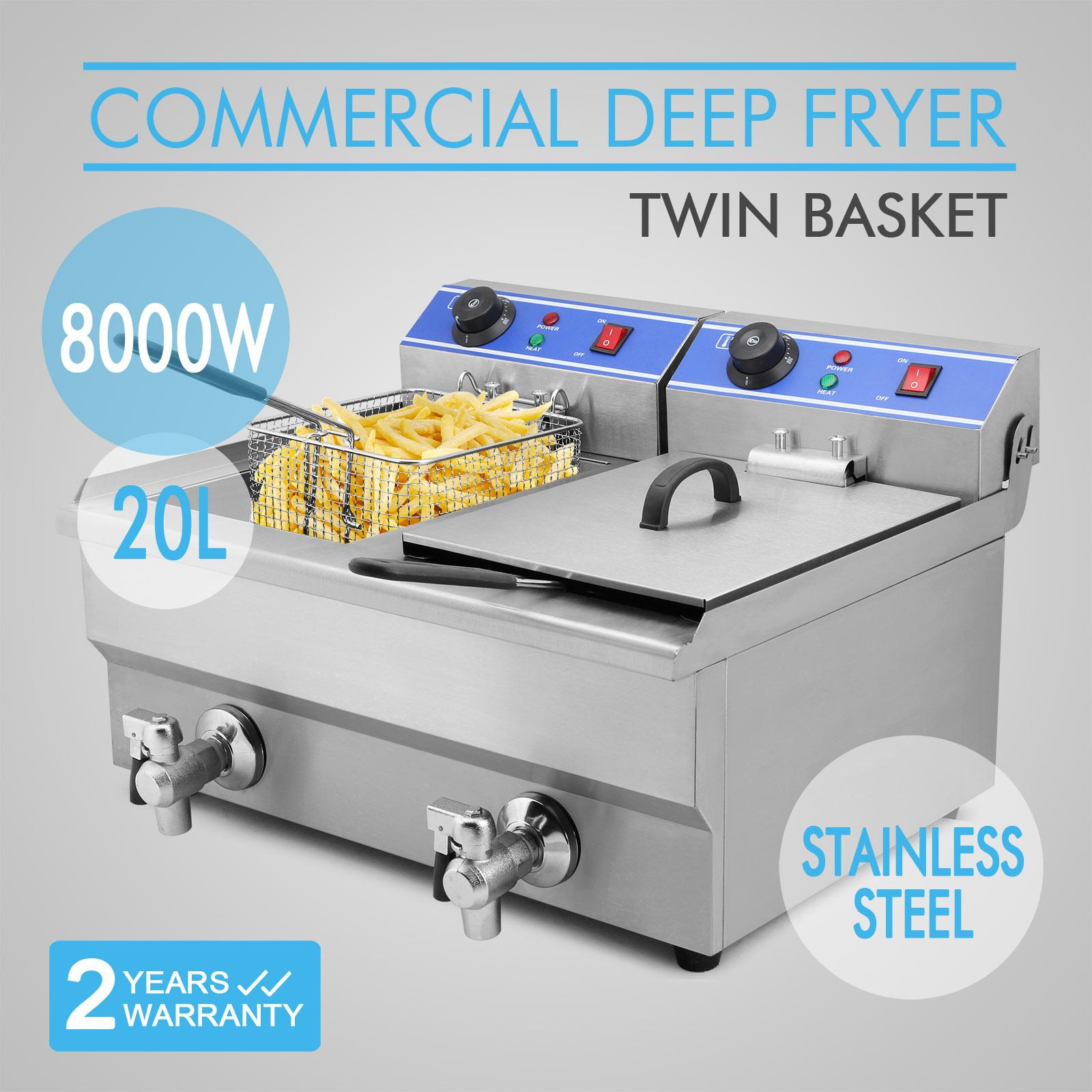 2019 Factory Price 20l 2x4kw Electric Countertop Deep Fryer Commercial Basket French Fry Restaurant Commercial Electric Deep Fryer From Sihao 160 81