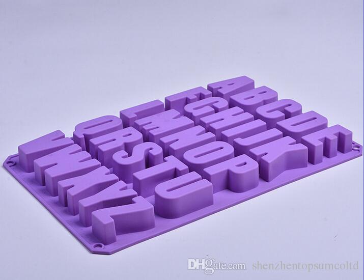 Grote alfabet brief siliconen mal zeep schimmel cake cupcake bakken bakvormen chocolade zeep decoreren