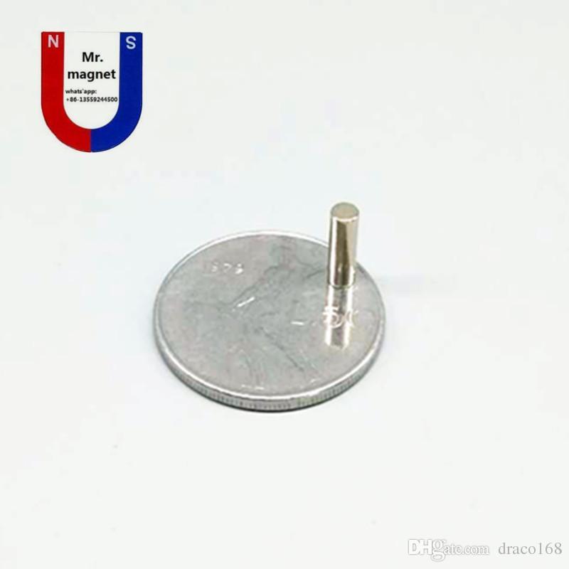 100pcs vente chaude D3mmx10mm D3x10mm 3mm * 10mm 3 * 10, D3 * 10 3x10mm 3mmx10mm N35 NdFeB Super puissant aimant permanent de terres rares