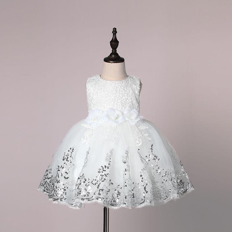 Compre Nuevo Vestido De Boda Para Bebé Niña Vestido De Bautizo Para Bautizo Vestido Con Lentejuelas Vestido De Princesa Para Niñas Pequeñas Durante 0
