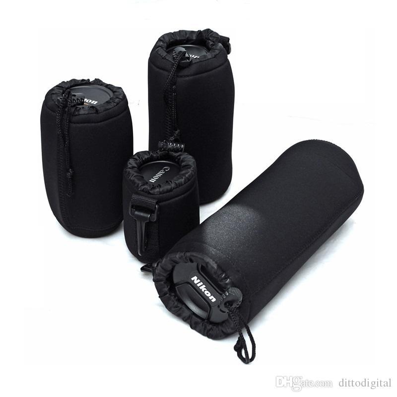 130mm WEIHONG WEIHONG Lens Bag SLR Camera Lens Package Thickening Shockproof Neoprene Lens Storage Bag Sticky Deduction 80mm Height Diameter