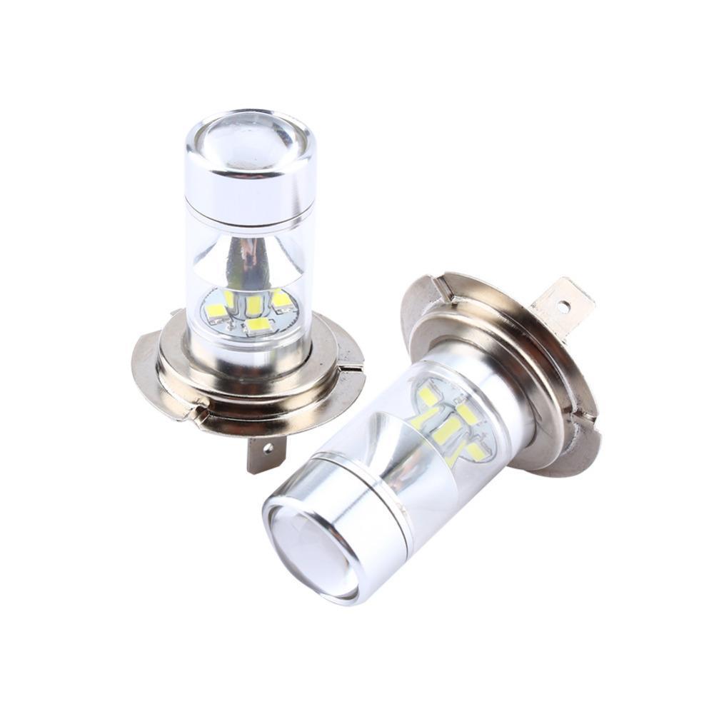 1 Çift 60 w 2323 6000 k 12SMD Beyaz H7 Yüksek Güç Led Araba Sis Koşu Işık Ampüller Araba Styling Işıkları Otomobiller Ampul