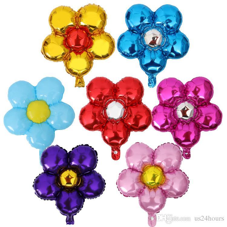 1pcs 50cm cinq fleurs feuille d'aluminium ballons beaux jouets mariage faveurs et cadeaux fête d'anniversaire décoration ballons