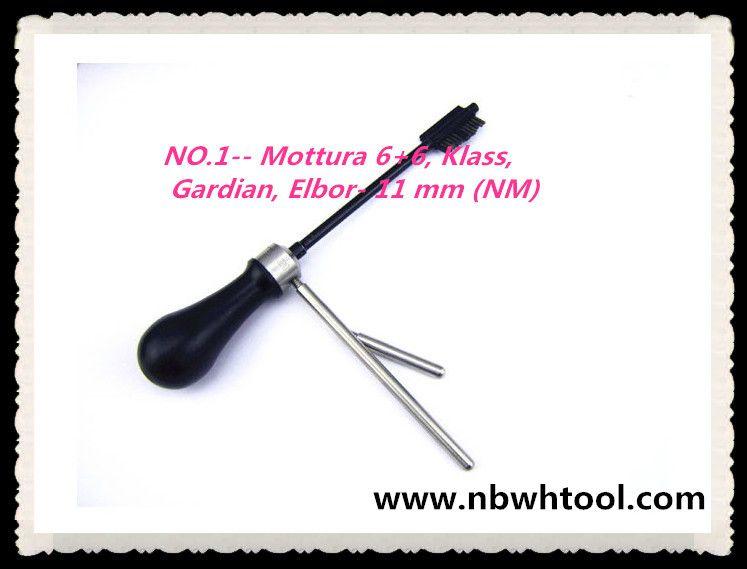 ENVÍO GRATIS ALTA CALIDAD NUEVO PRODUCTO llave maestra decodificador herramientas de cerrajería MAGIC KEY 01 para Mottura 6 + 6, Klass, Gardian, Elbor- 11 mm (NM)