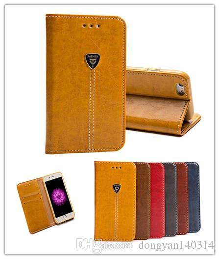 For iphone7 Vintage Flip Stand Wallet Leather With Card Slot For iphone 7 plus 6s 5S 5