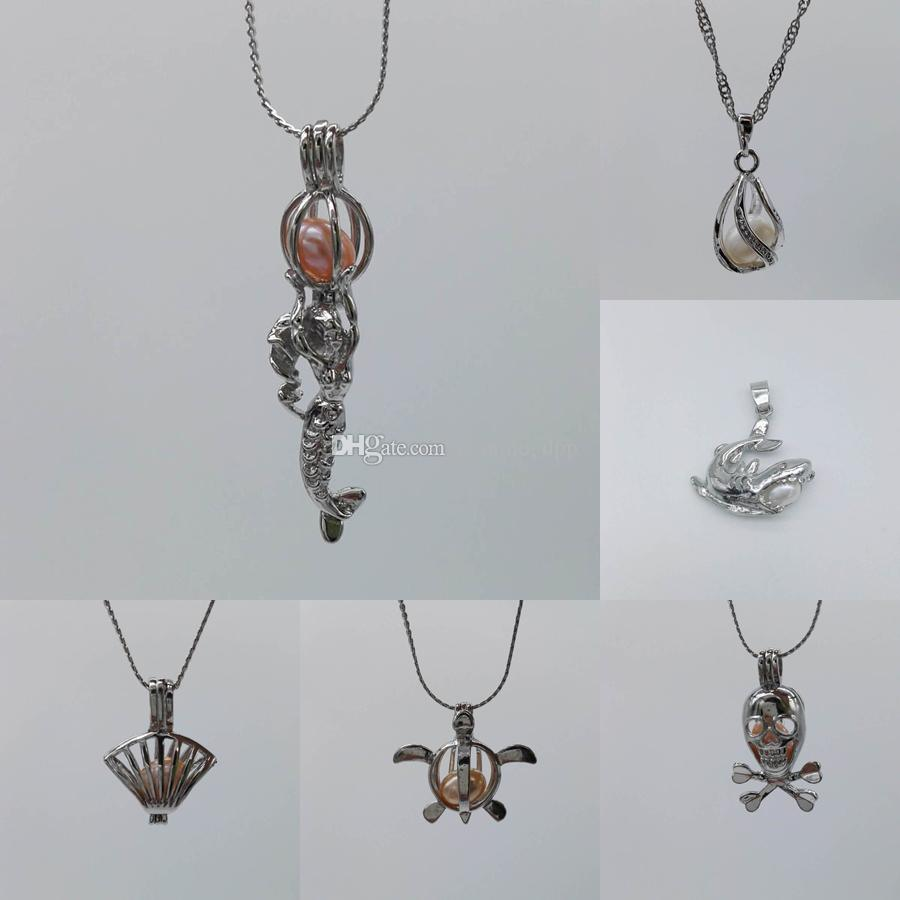 Hot sale Love Pearl Cage Pendants Fashion gem beads Opening locket cages Charms Fit For women necklace DIY Jewelry cheap wholesale