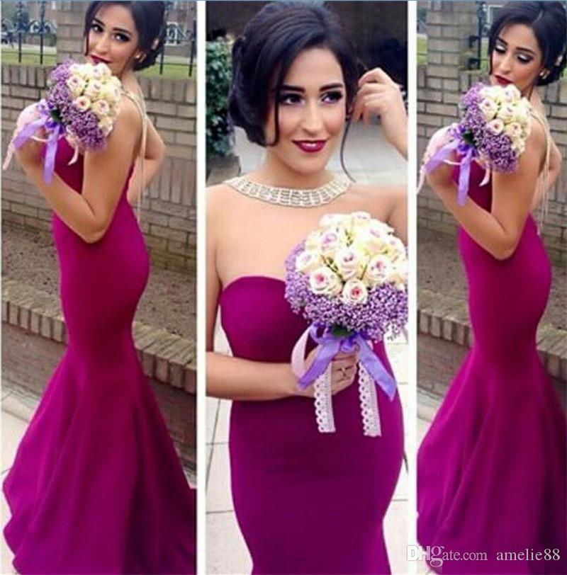 Princess 2017 Arabic India Cheap Fuschia Bridesmaid Dresses ...