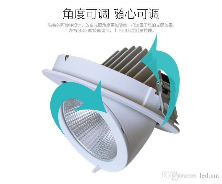 4X Super Helle 15 Watt 25 Watt 50 Watt COB LED Einbauleuchten 3000 Karat 6000 Karat Einstellbare LED-Schienenleuchte 3 jahre Garantie Freies Verschiffen