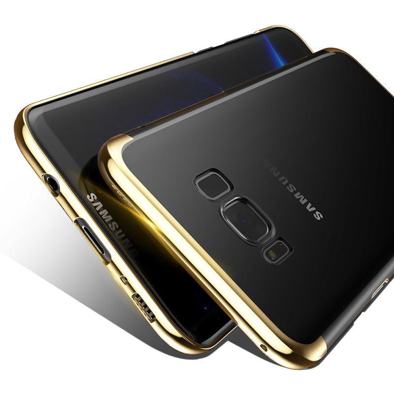 إلى Samsung Galaxy S8 Plus Luxury Case مطلي بالكهرباء PC Coque الغطاء الخلفي الواقي لجهاز Galaxy S8 Plus