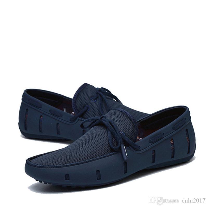 Big Size Ventilate Bootsschuhe 2020 Slip-on-Badeschuhe Sommer Outdoor Bequeme Herren Loafer 4 # 17 / 20D50
