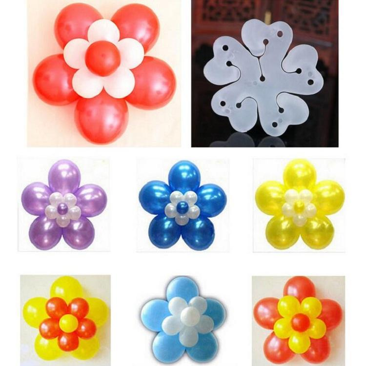 New clip double-deck flower balloons connectors seal holder tie helium tool for Craft Birthday Wedding Party baby shower Decoration DIY