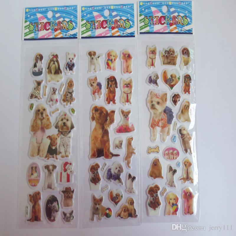 Más diseño de dibujos animados en 3D pegatinas 7 * 17 cm partido libro decorativo pegatinas juego de papel regalo de los niños envío gratis