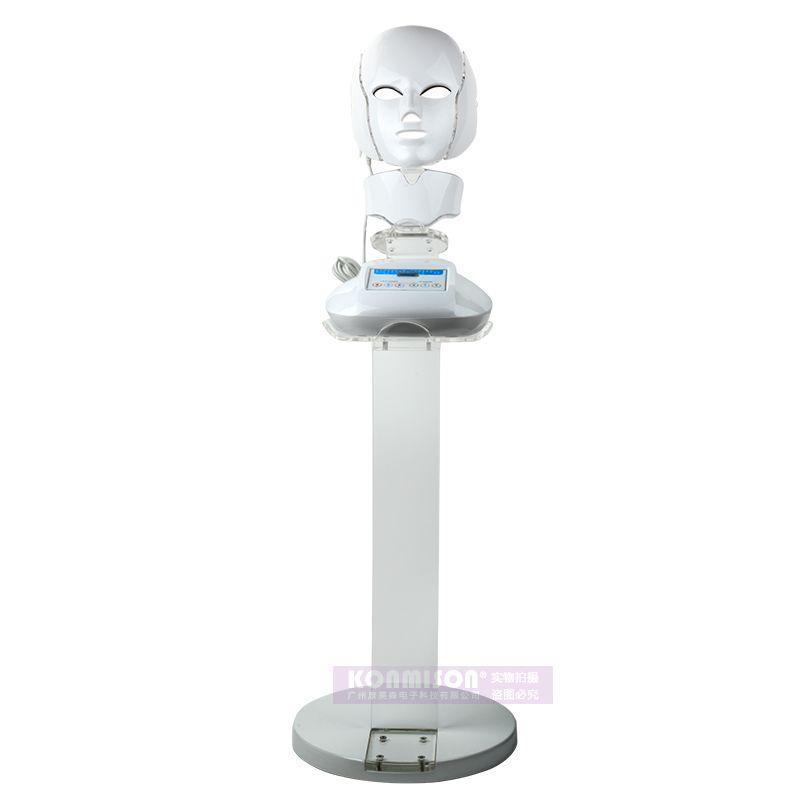 2017 Three colour LED skin rejuvenation mask vertical facial beauty light led mask skin tightening beauty machine home use DHL Free Shippin