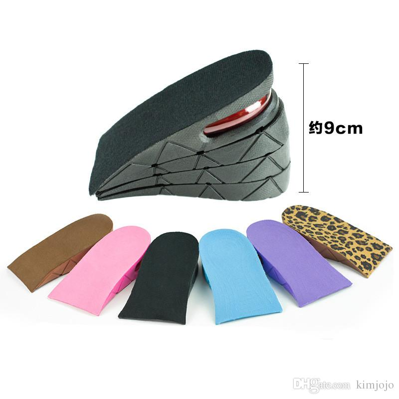 Unisex Shoe Insole 4-Layer Air Cushion Heel Increase 9 cm Insoles PVC Air Cushion Invisible Lift Pads