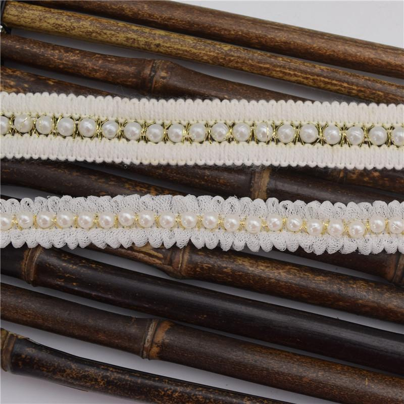 15 mètres bricolage ruban PERLE HANDMADE BEADED CUFF décolleté dentelle jupe robe dentelle gros