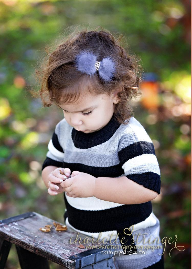 New baby ornaments - New Baby Hair Ornaments Children Sable Hair Bow With Baby Photo