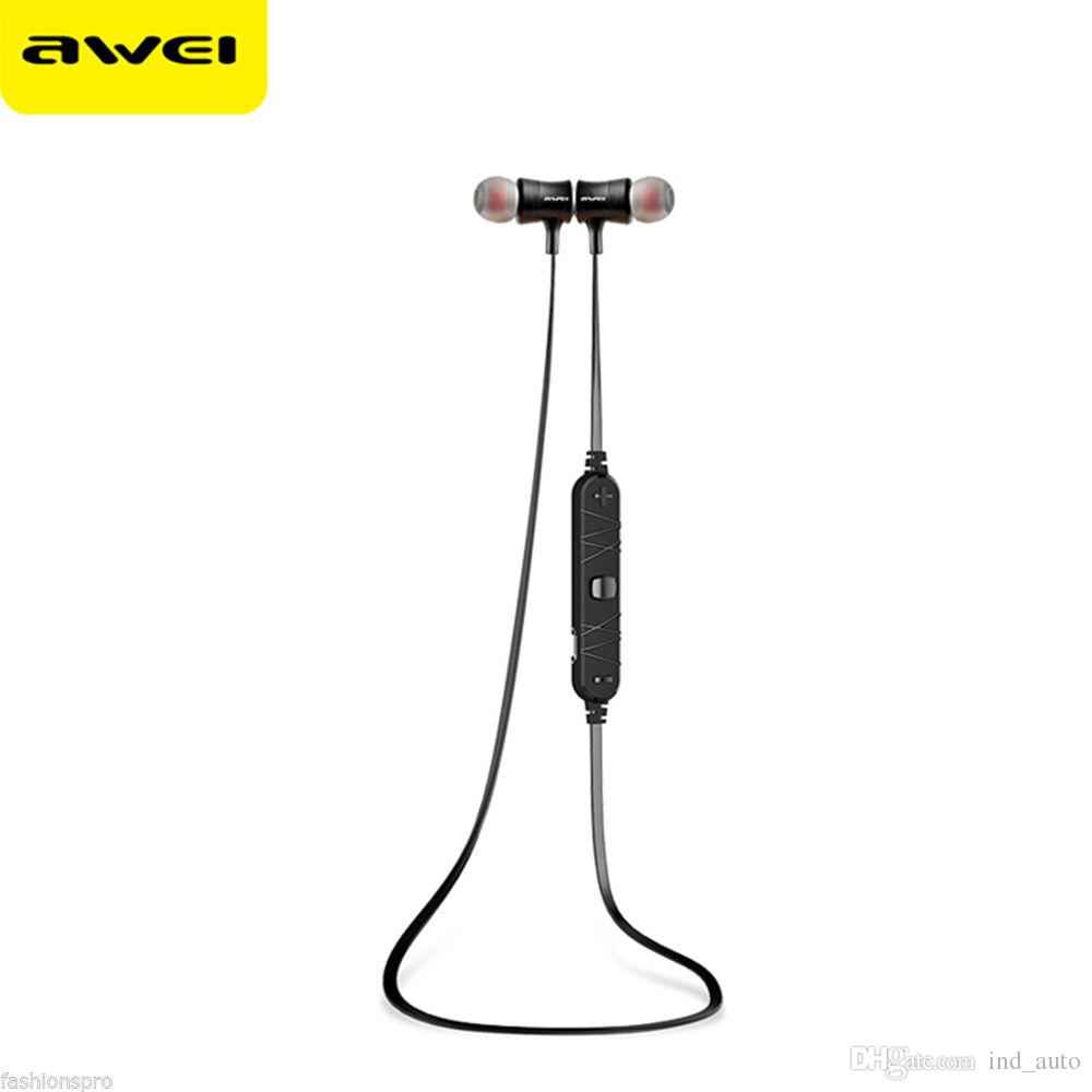 Awei A921BL Bluetooth Wireless Headphone Cute Sports Stereo Bass Headset Bluetooth CSR4.1 Earphone Noise Canceling Headphone Mic Earbuds