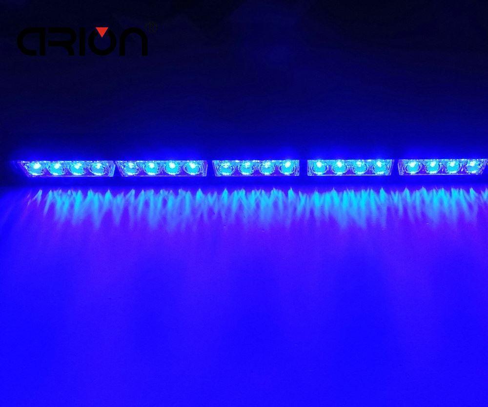 """22 """"20 LED de Emergência polícia de Trânsito Bombeiro Piscando Barra de Luz Estroboscópica Aviso sinal Azul lightbar 12 V / 24 V"""