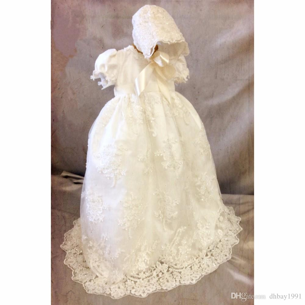 2018 New Baby Girl Baby Boy Baptism Gown 0 24month Christening Dress ...
