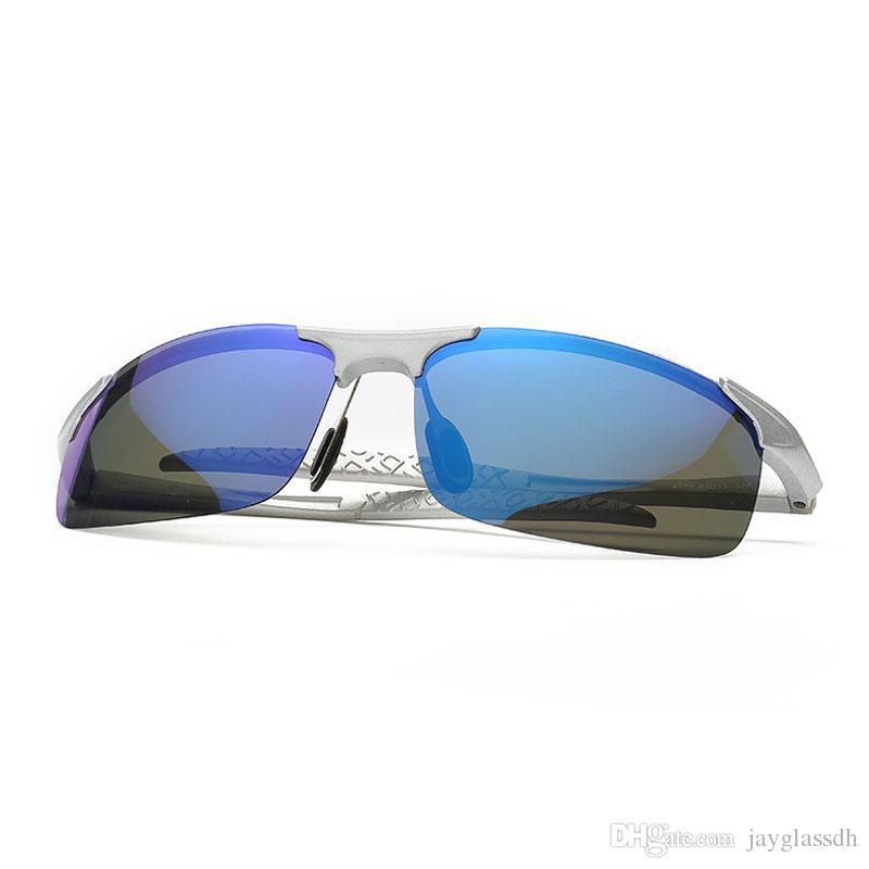 2020 Nuevo diseño de gafas de sol polarizadas de los hombres polarizados de la noche mirillas coche de conducción gafas de sol de los hombres deportes al aire libre para la pesca campo de correr