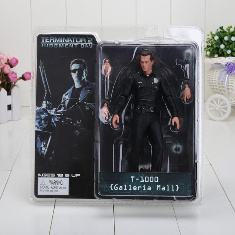 7inch 18cm The Terminator 2 Action Figure T1000 Galleria Mall pvc action Figure Toy model free shipping