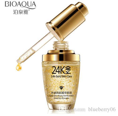 24K Gold Face Day Cream Hydrating Essence Serum Moisturizing Women Face Skin Care 2pcs Free shipping