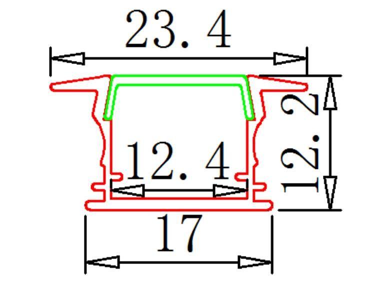 Free Shipping 2m/pcs factory price LED Aluminum Extrusion Profile for LED strips 2835/5050/5630/7020 LED Aluminum Profile