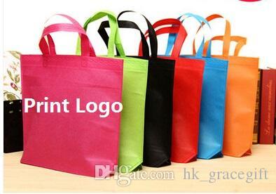 غير المنسوجة تخصيص الحقائب أكياس التسوق طباعة الشعار ملابس Eco Bag gifts على الأسهم الجملة أكياس الإعلان