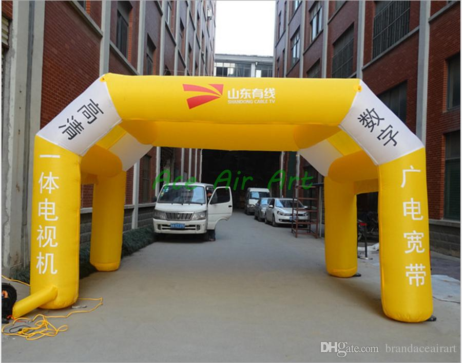 logo design air marquee inflatable vertical wind tunnel for event party