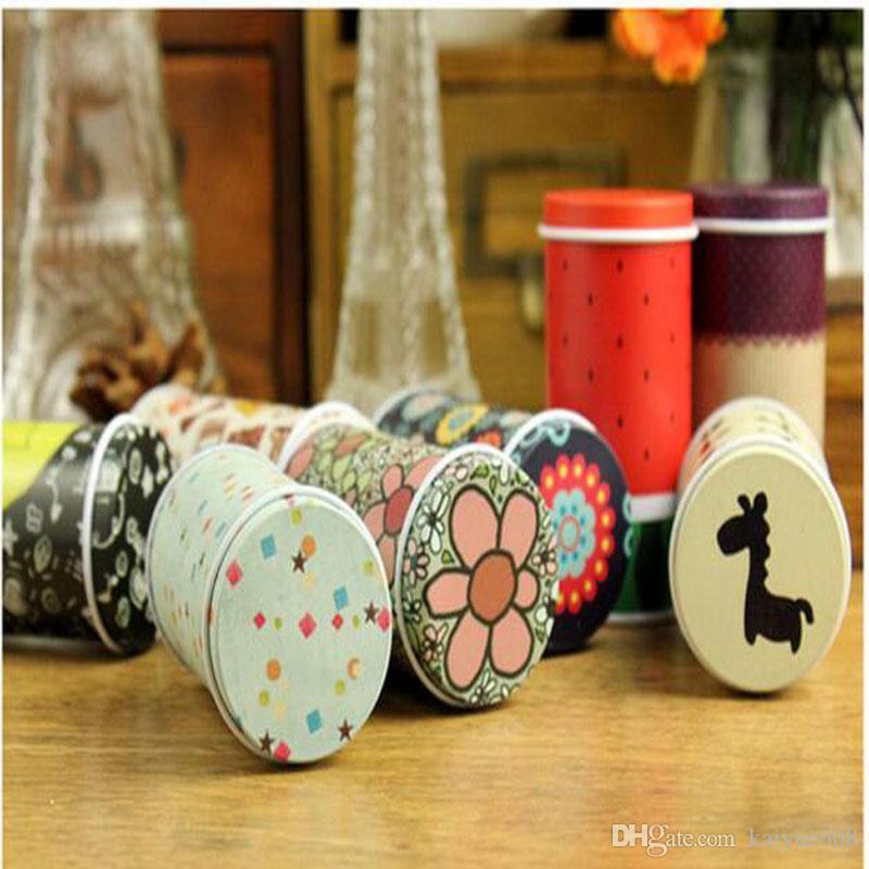 Stockage Tin Box Zakka Organisateur Petit décoratif Tins Box Design Fleurs Article cadeau Conteneurs ménages Nouveauté Nouveau