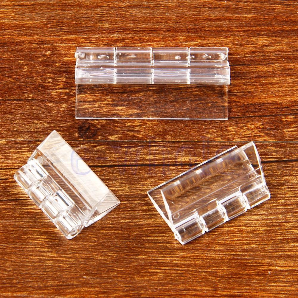 الجملة-10x دائم واضح الاكريليك البلاستيك المفصلي للطي المفصلي شبكي شفاف HG2761X10-HG2763X10