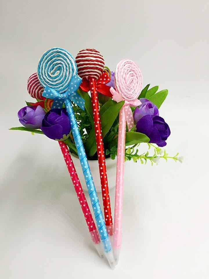 Creative stationery fashion and lovely bowknot lollipop green ball-point pen students prizes Promotional giveaways