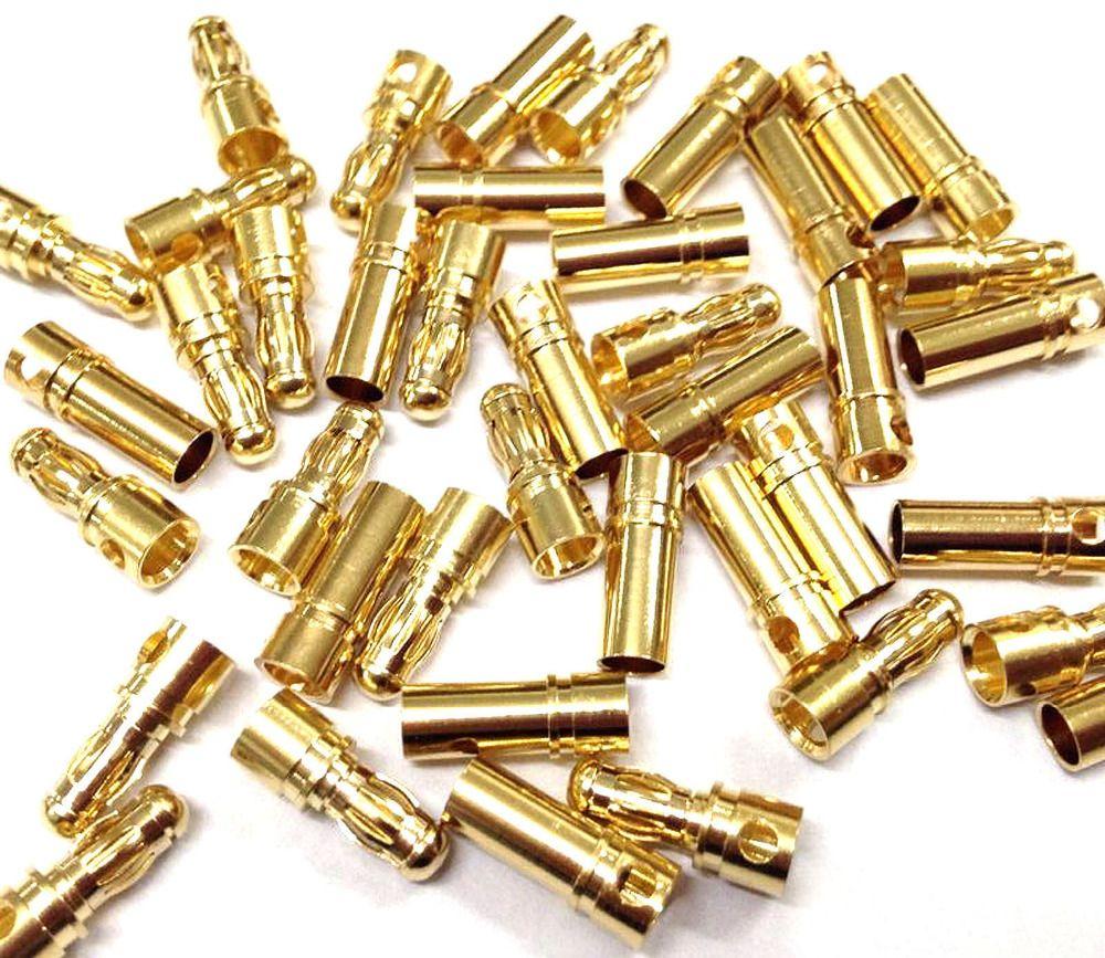 2mm 4mm 5mm 8mm Gold Bullet Bananenstecker Männlich Weiblich Dick Vergoldet für ESC Batterie 100pairs enthalten