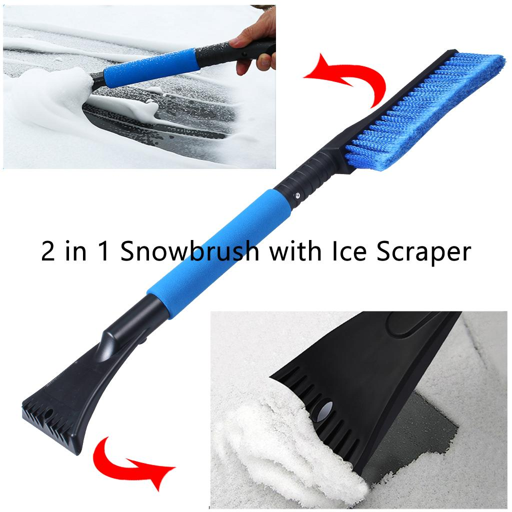 2 In 1 Snowbrush with Ice Scraper Car Vehicle Winter Brush Window Clean Tools 24 Inch