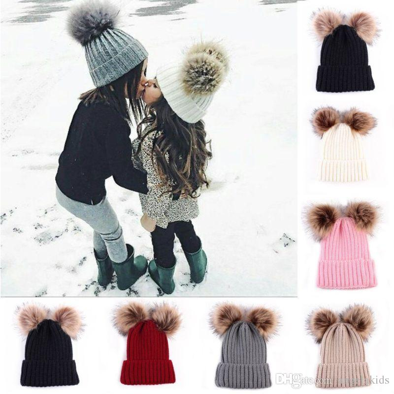 Cute Toddler Kid Girl/&Boy Baby Infant Winter Warm Crochet Knit Hat Beanie Cap