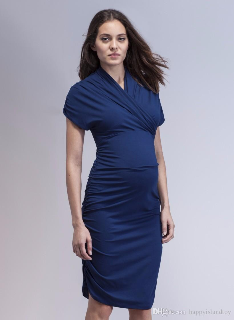 14297c56b7699 2019 Fashion Maternity Clothing For Pregnant Women Elegant Office Lady  Business Vestidos Gowns Winter Maternity Wcloset Dress From Happyislandtoy,  ...