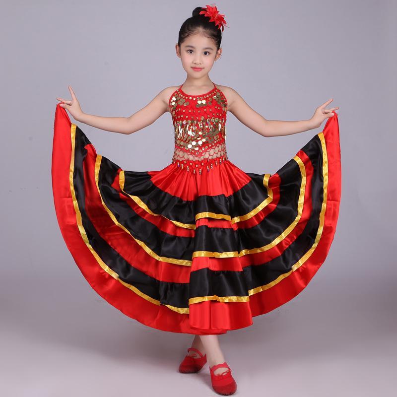 Rosso Bianco Scarpe La Senorita Spagnola Flamenco