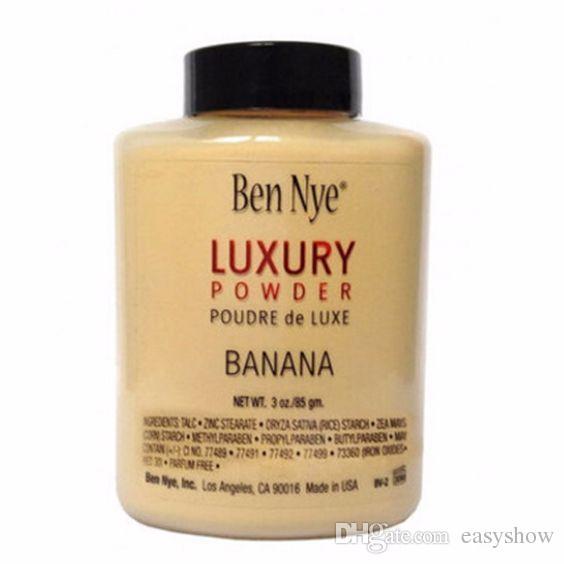 Stock !! TOP Brand Ben Nye POLVO DE LUJO DE LUXE Plátano Polvo suelto 3oz / 85g Envío libre de DHL