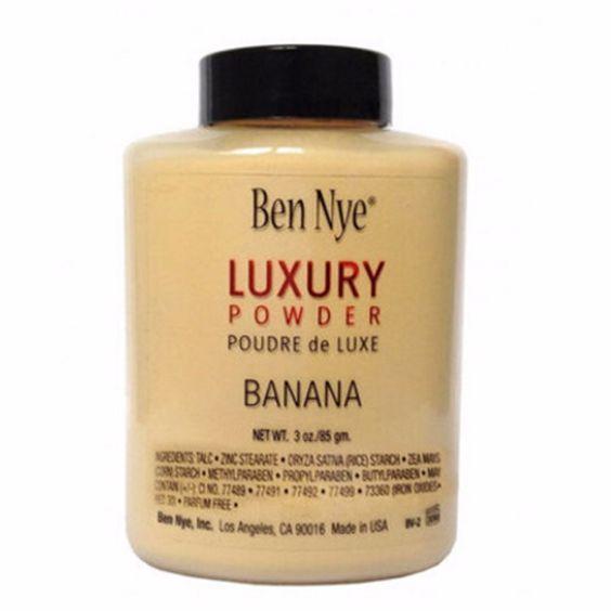 Stock !! TOP Marca Ben Nye POLVERE DI LUSSO POUDER de LUXE Banana Polvere in polvere 3 oz / 85g DHL LIBERA il Trasporto