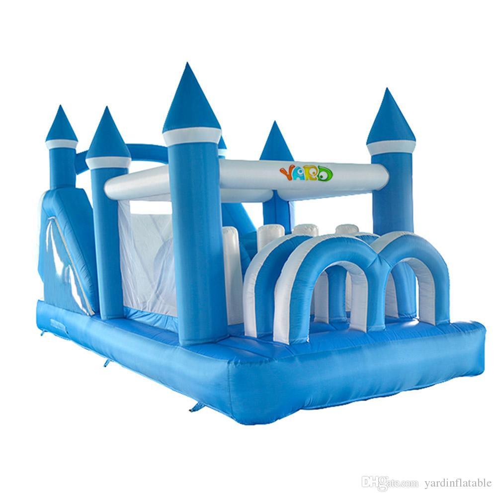 Infaltable Sıçrama Dev Inflatble Oyunu Mavi Komik Çocuk Parti Inlfatble Slayt Eğlence Parkı Juego Infaltable