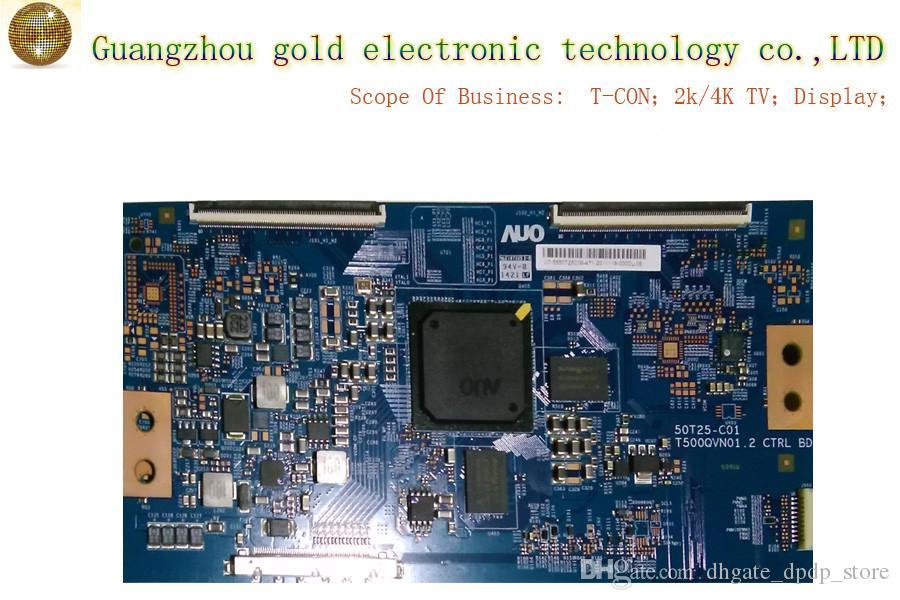 Original AUO placa lógica T500QVN01.2 50T25-C01 T-CON placa CTRL placa Plana Peças de TV LCD LED Peças de TV