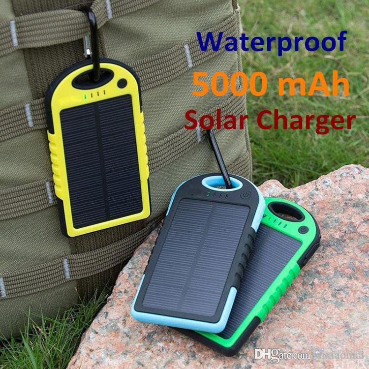 50PCS العالمي 5000mAh شاحن للطاقة الشمسية لوحة للطاقة الشمسية لشحن البطاريات للهواتف الذكية PAD أقراص كاميرا موبايل قوة البنك المزدوج USB