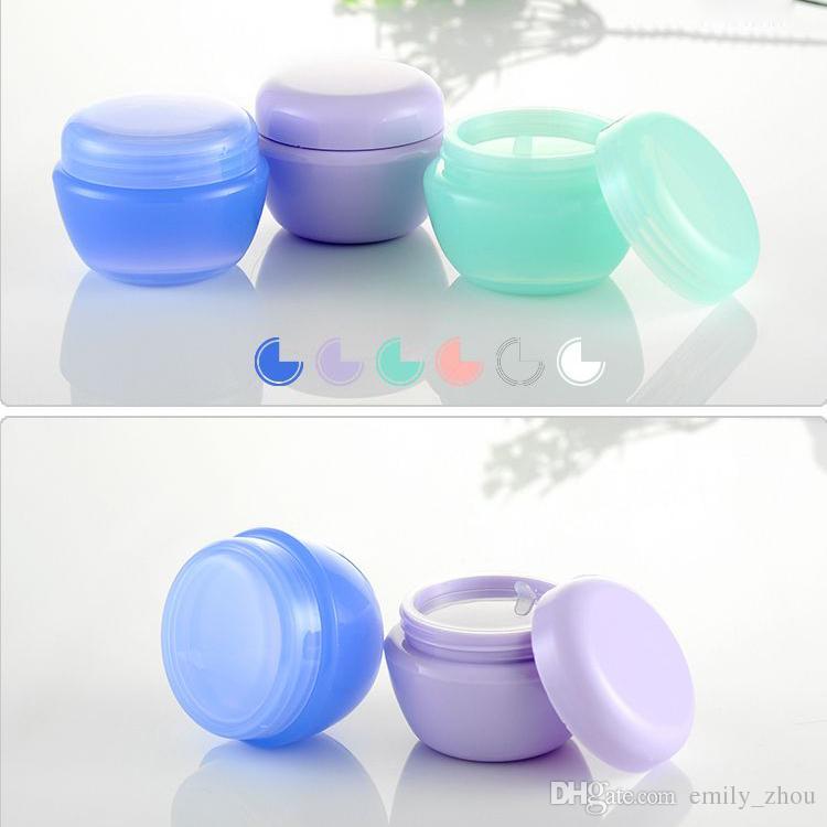 50 adet 30g boş Plastik Krem maske PP şişeler kavanoz ambalaj kutuları kozmetik ambalajı için 1.0 OZ beyaz boş krem kaplar