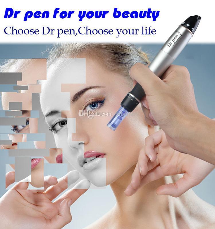 Siyah kutu ile elektrik Mikro İğne Dr. Kalem Ayarlanabilir İğne Uzunlukları 0.25mm-3.0mm Dr.Pen Oto Microneedle Silindirler Sistemi