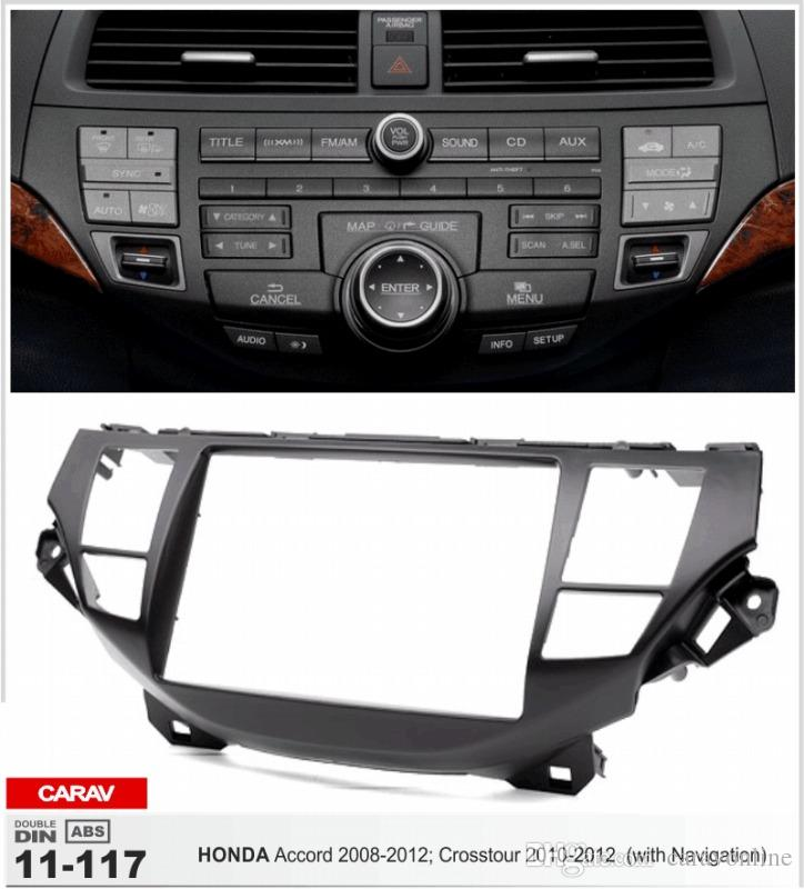 CARAV 11-117 radio install fix trim kit for HONDA Crosstour 2010-2012; Accord 2008-2012 (with Navigation) 2-DIN